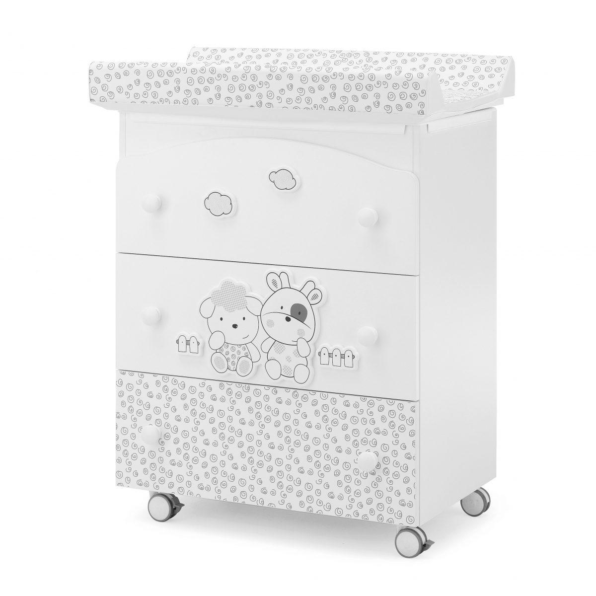 luxusní dětský nábytek - přebalovací pult 3v1 Milky