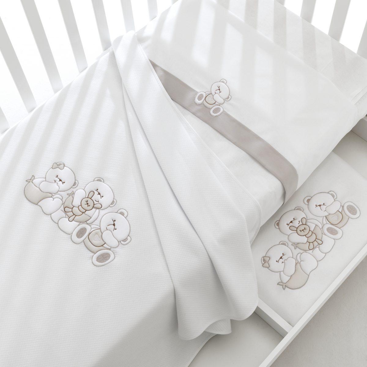 luxusní dětský nábytek - designové textilie s medvídky Mirtillo