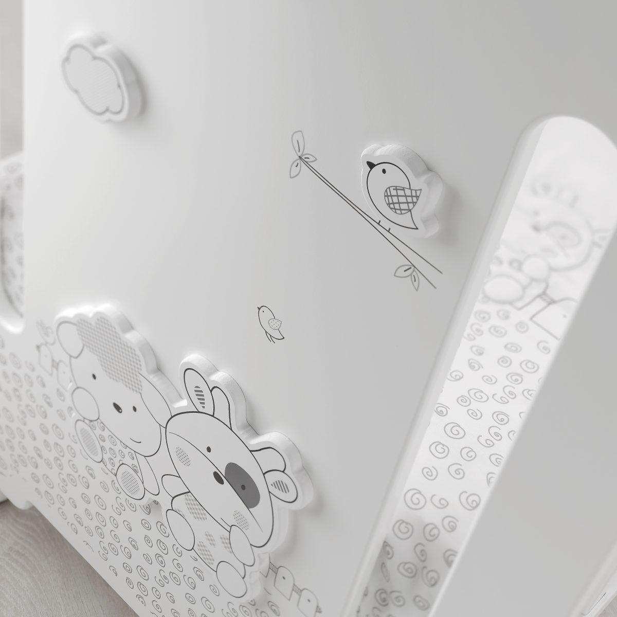 luxusní dětský nábytek - detail kolekce dětského pokojíčku Milky