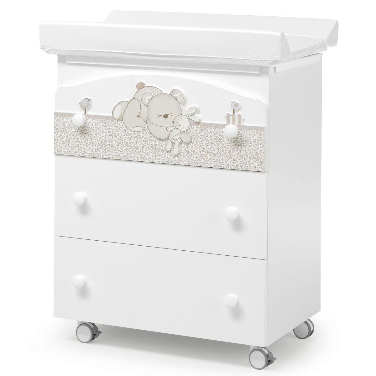 luxusní dětský nábytek - přebalovací pult 3v1 Birba