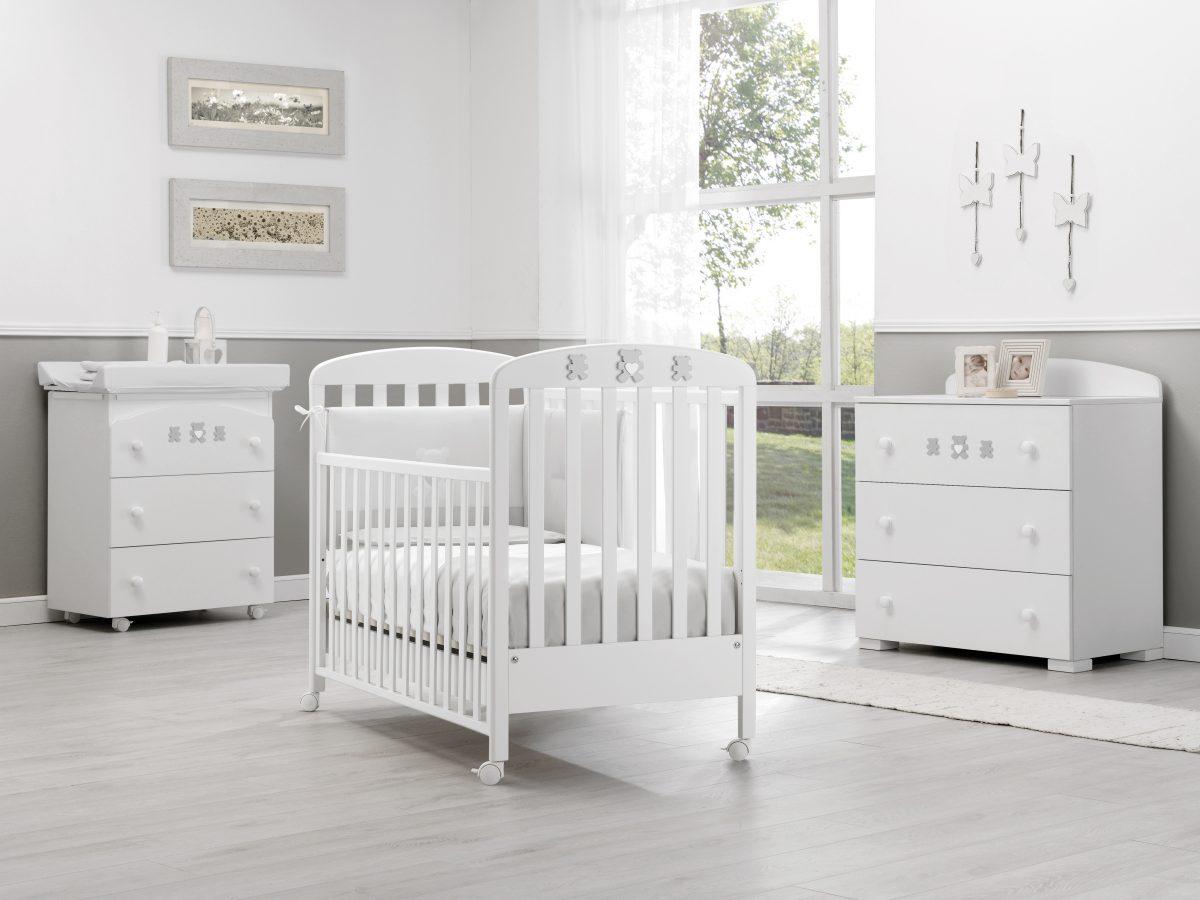 luxusní dětský nábytek - postýlka s medvídky Molly