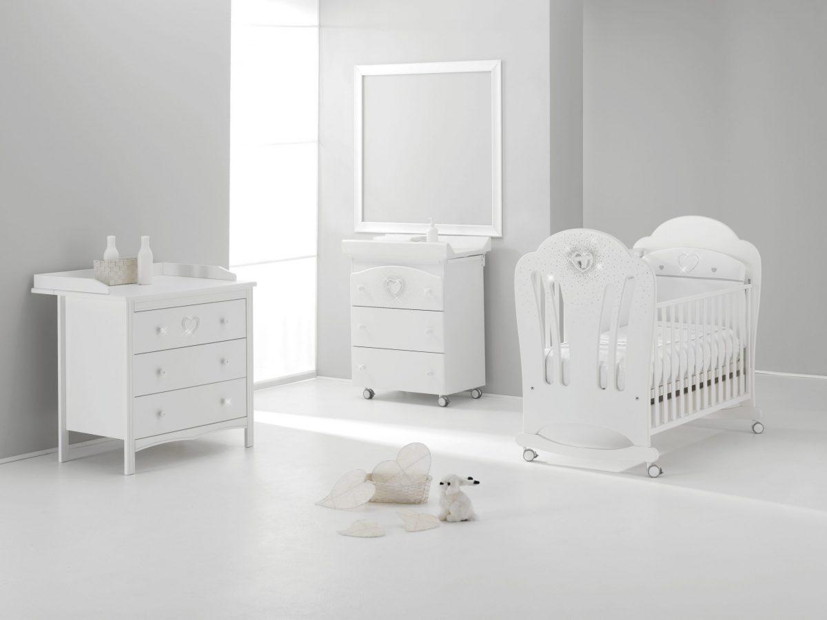 luxusní kolekce dětského nábytku CuoreseSWAROVSKI® elementy