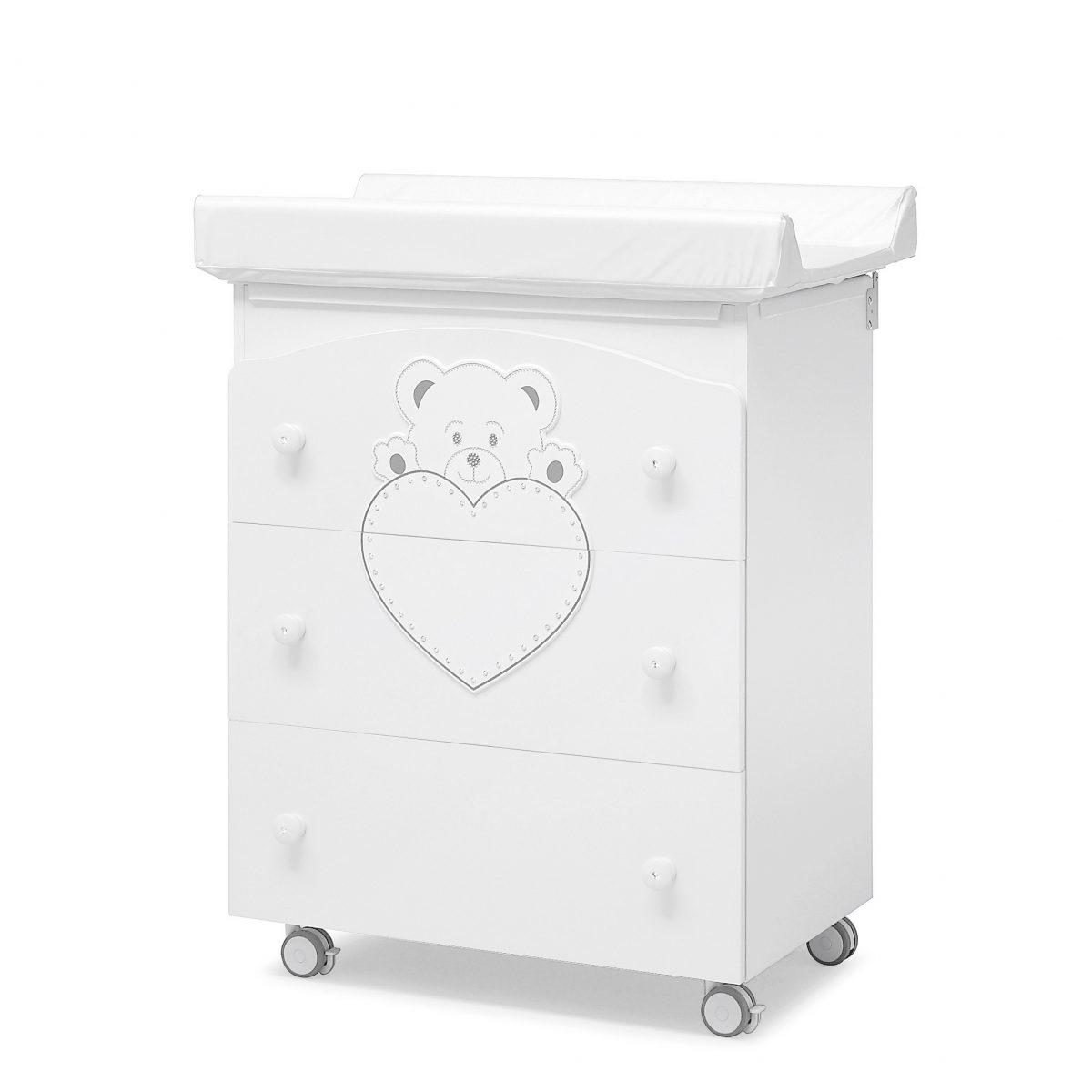 luxusní dětský nábytek - přebalovací pult Lulu se Swarovski elementy