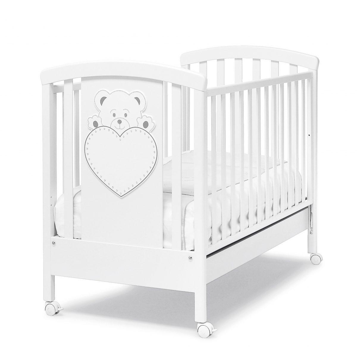 luxusní dětský nábytek - postýlka Lulu se Swarovski elementy