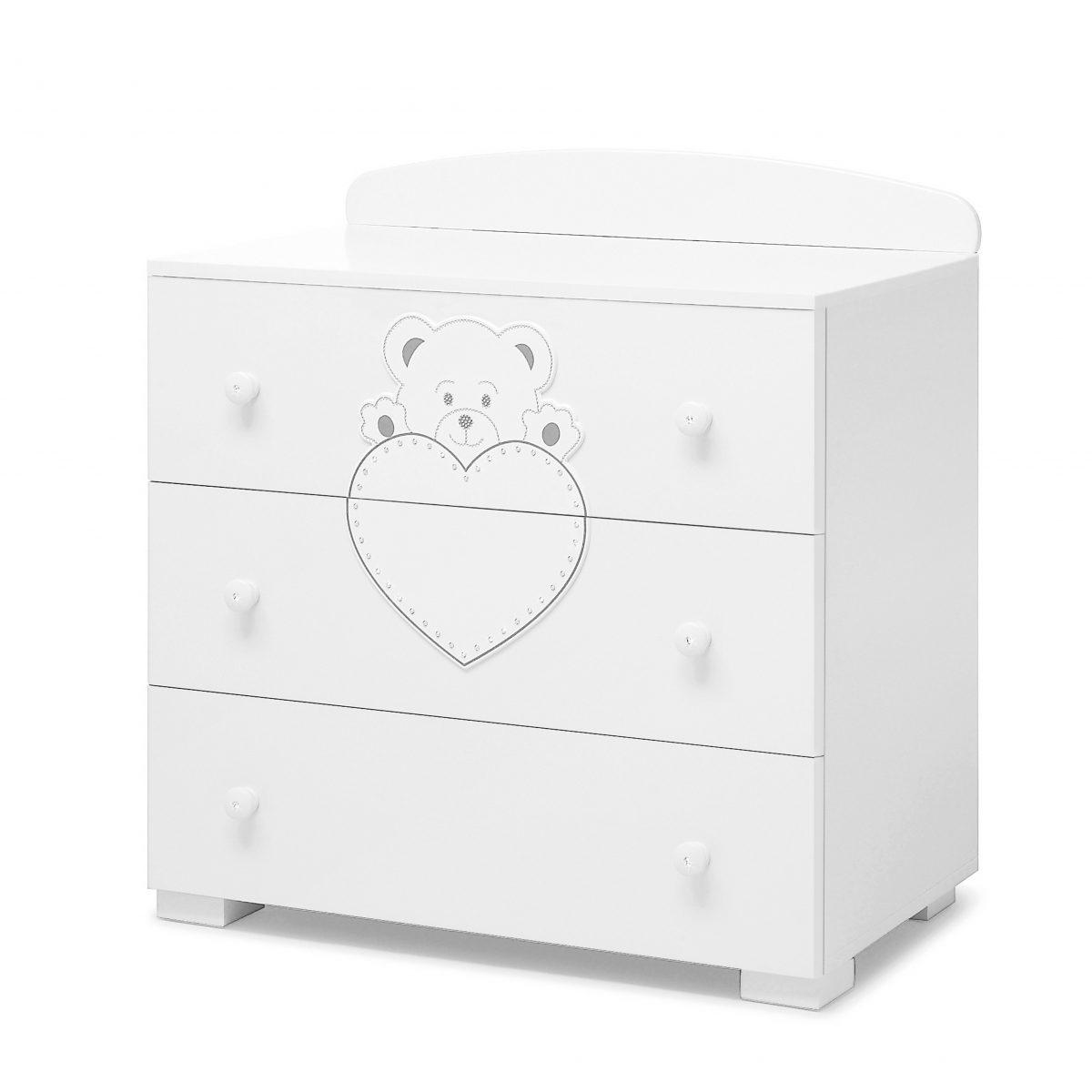 luxusní dětský nábytek - komoda Lulu se Swarovski elementy