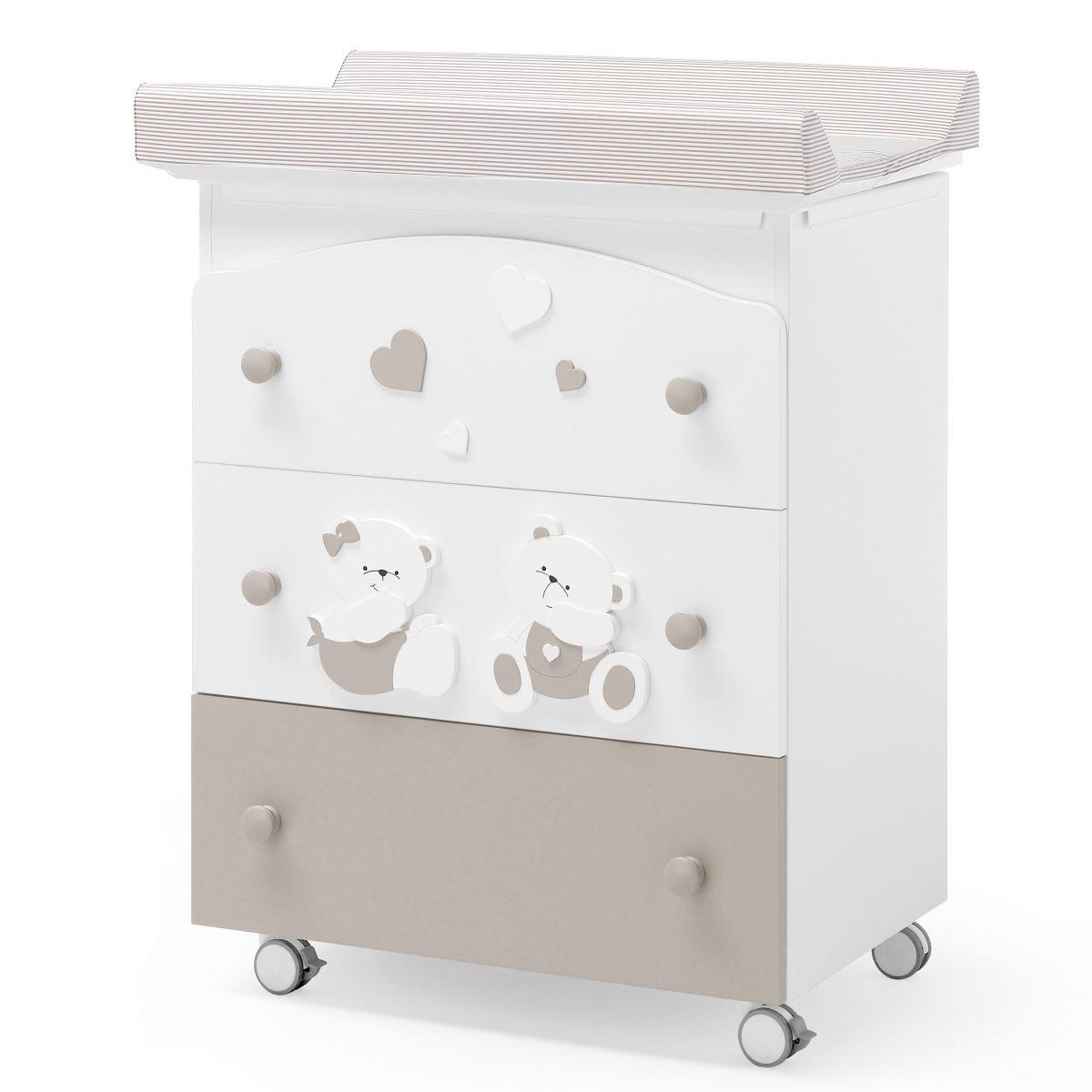 luxusní dětský nábytek - přebalovací pult 3v1 Mirtillo