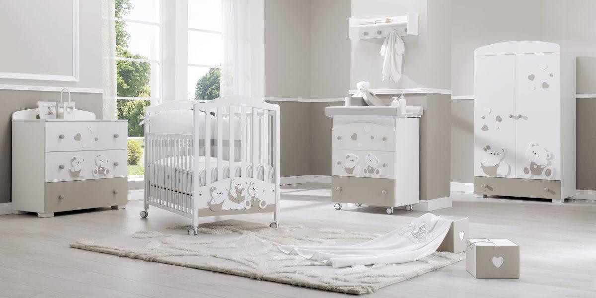 luxusní dětský nábytek - medvídkový pokojíček Mirtillo