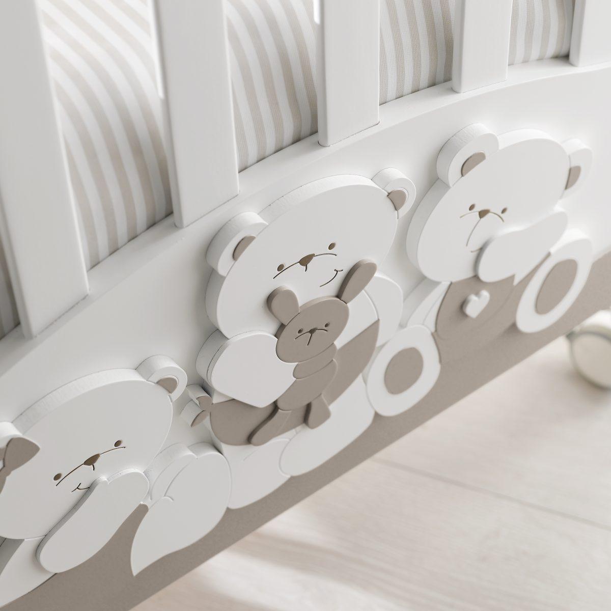 luxusní dětský nábytek - dětský pokojíček s medvídky Mirtillo